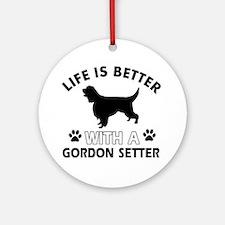 Gordon Setter dog gear Ornament (Round)