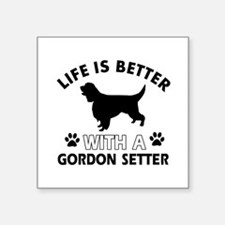 "Gordon Setter dog gear Square Sticker 3"" x 3"""