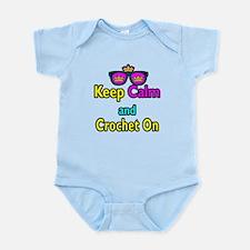 Crown Sunglasses Keep Calm And Crochet On Infant B