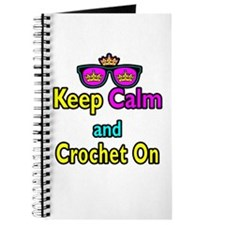 Crown Sunglasses Keep Calm And Crochet On Journal