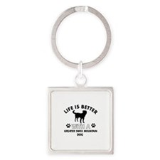 Greater Swiss Mountain Dog dog gear Square Keychai