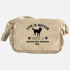 Greater Swiss Mountain Dog dog gear Messenger Bag