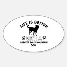 Greater Swiss Mountain Dog dog gear Sticker (Oval)