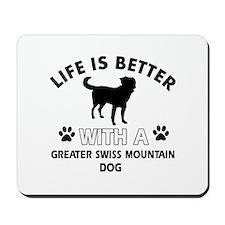 Greater Swiss Mountain Dog dog gear Mousepad