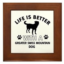 Greater Swiss Mountain Dog dog gear Framed Tile