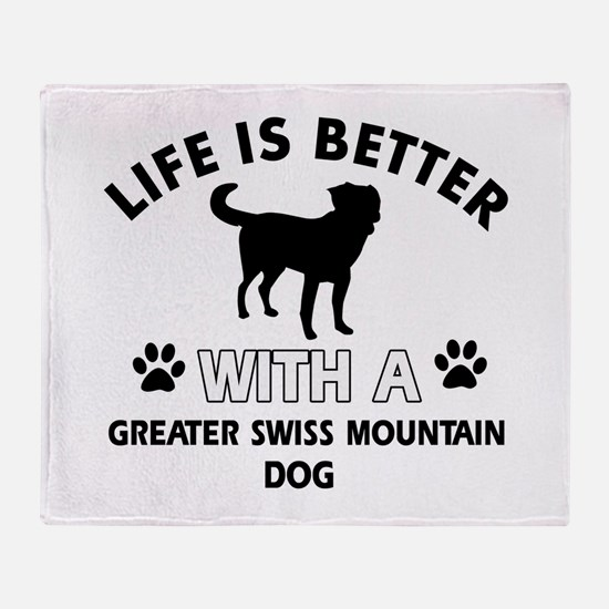 Greater Swiss Mountain Dog dog gear Throw Blanket
