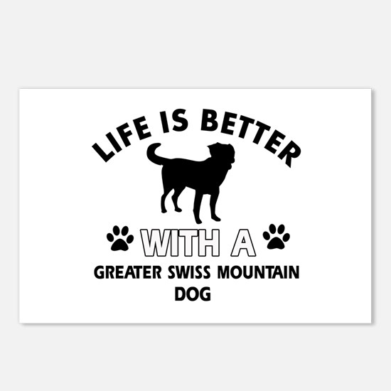 Greater Swiss Mountain Dog dog gear Postcards (Pac