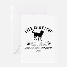 Greater Swiss Mountain Dog dog gear Greeting Card