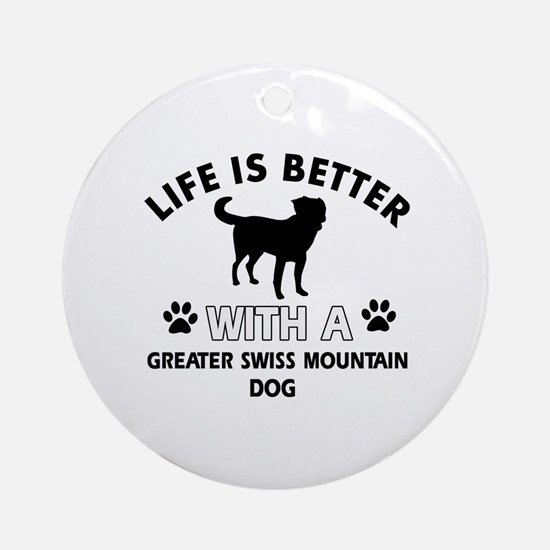 Greater Swiss Mountain Dog dog gear Ornament (Roun