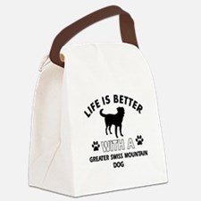 Greater Swiss Mountain Dog dog gear Canvas Lunch B