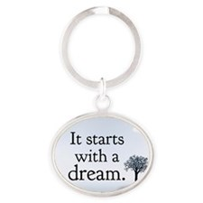 it starts with a dream Keychains