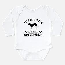 Greyhound dog gear Long Sleeve Infant Bodysuit