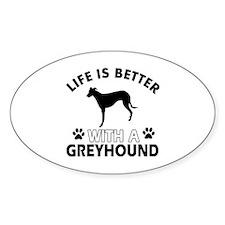 Greyhound dog gear Decal