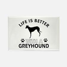 Greyhound dog gear Rectangle Magnet (10 pack)