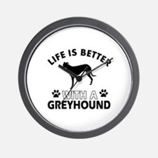 Greyhound dog gear Wall Clock