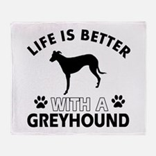 Greyhound dog gear Throw Blanket