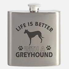 Greyhound dog gear Flask