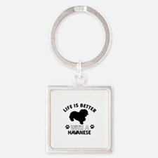 Havanese dog gear Square Keychain