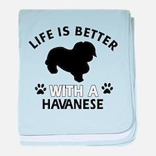 Havanese dog gear baby blanket