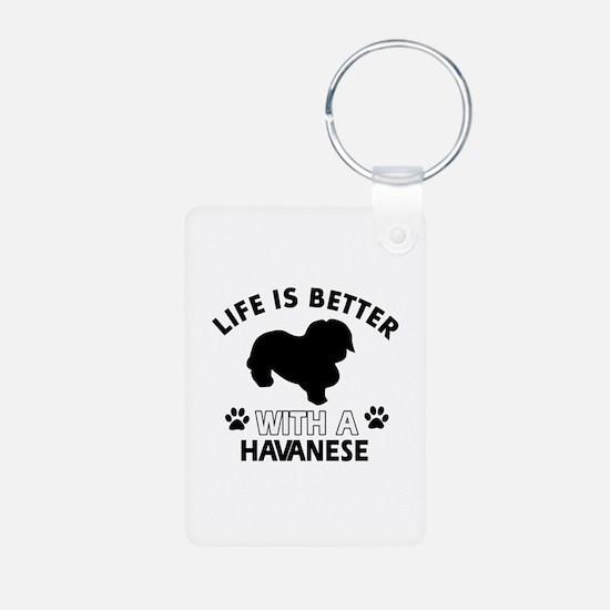 Havanese dog gear Aluminum Photo Keychain