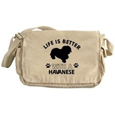Havanese dog gear Messenger Bag