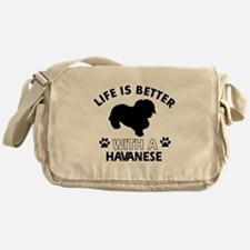 Havanese dog gear Messenger Bag