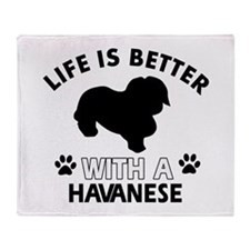 Havanese dog gear Throw Blanket