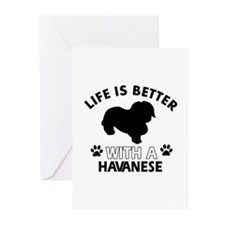 Havanese dog gear Greeting Cards (Pk of 10)