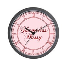 Shameless Hussy Wall Clock