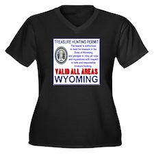 Treasure Hunting Permit Wyoming Women's Plus Size