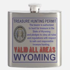 Treasure Hunting Permit Wyoming Flask