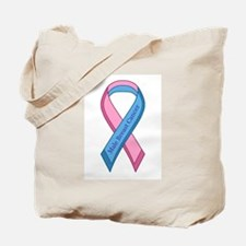 Male Breast Cancer Awareness Ribbon Tote Bag