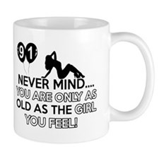 91th year old birthday designs Mug