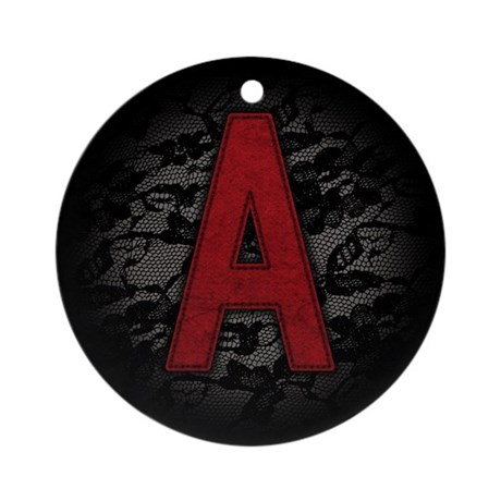 scarlet-a_square.jpg Ornament (Round)
