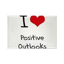 I Love Positive Outlooks Rectangle Magnet