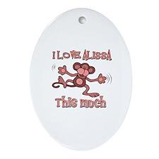 I love Alissa Ornament (Oval)