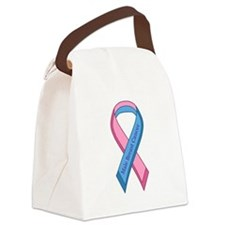 Male Breast Cancer Awareness Ribbon Canvas Lunch B