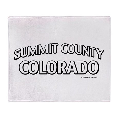 Summit County Colorado Throw Blanket