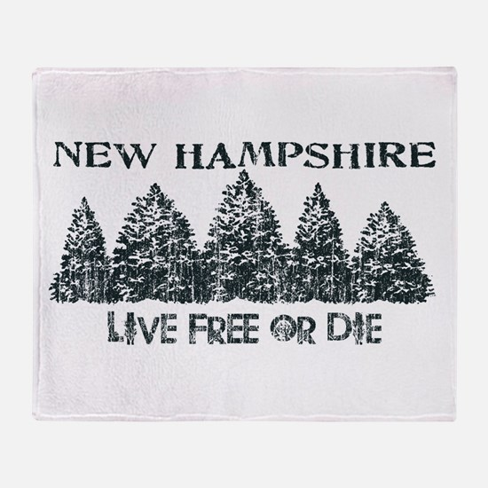 Live Free or Die Throw Blanket