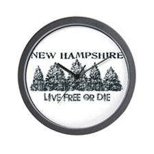 Live Free or Die Wall Clock