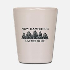 Live Free or Die Shot Glass