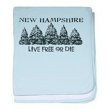 Live Free or Die baby blanket