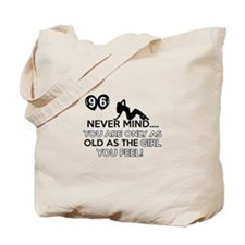 96th year old birthday designs Tote Bag