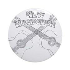 New Hampshire Guitars Ornament (Round)