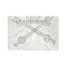 New Hampshire Guitars Rectangle Magnet