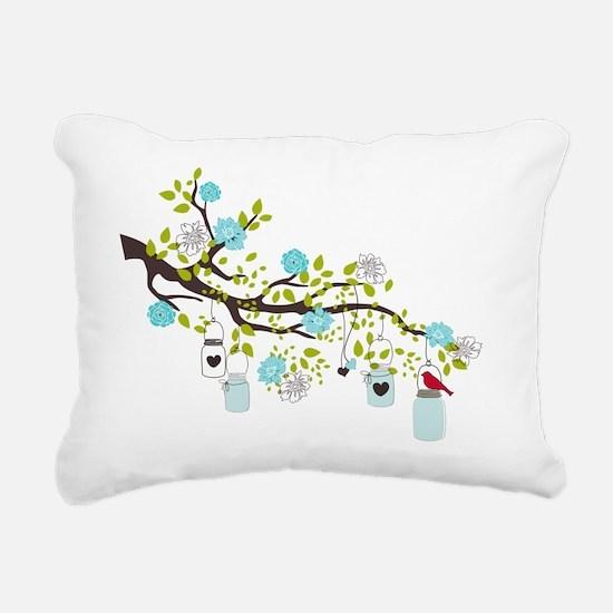 Spring Bliss Love Rectangular Canvas Pillow