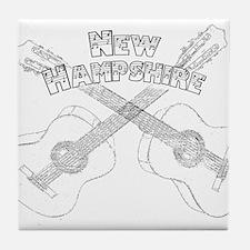 New Hampshire Guitars Tile Coaster