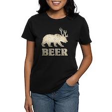 Bear+Deer=Beer Vintage Tee