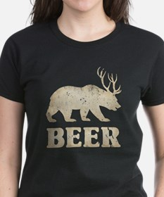 Bear+Deer=Beer Vintage Tee