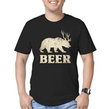 Bear+Deer=Beer Vintage T